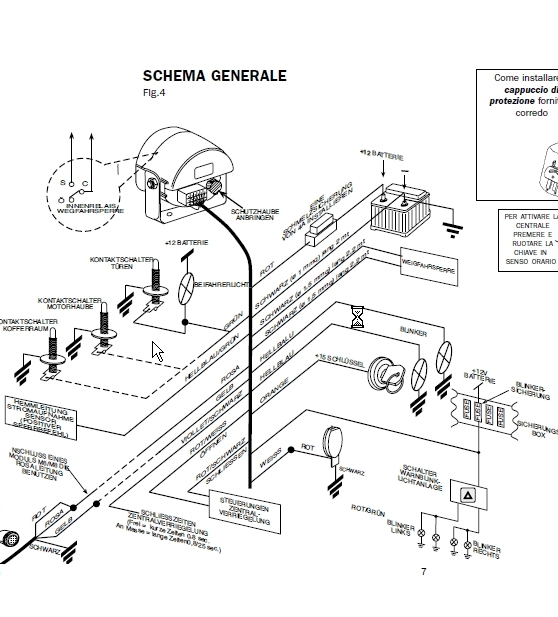schema antifurto metasystem